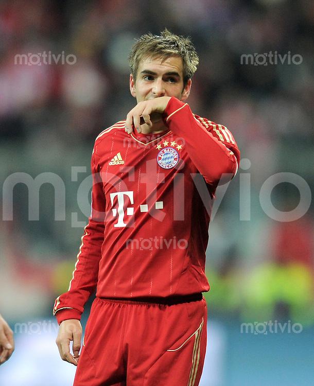 FUSSBALL   1. BUNDESLIGA  SAISON 2011/2012   17. Spieltag FC Bayern Muenchen - 1. FC Koeln       16.12.2011 Philipp Lahm (FC Bayern Muenchen)