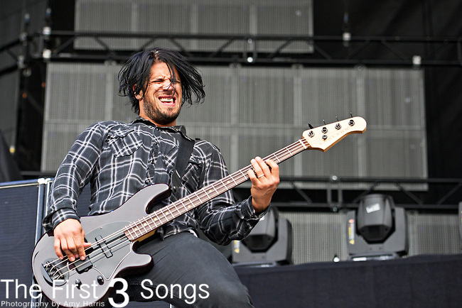 Tobin Esperance of Papa Roach performs during the The Beale Street Music Festival in Memphis, Tennessee.
