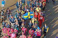 Swedish Scouts on her wy to the Main Arena on Cultural Festival Day