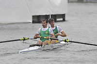 Henley, GREAT BRITAIN,  Silver Goblets and Nickalls' Challenge Cup, Bow, Shaun KEELING and Ramone DI CLEMENTE, 2008 Henley Royal Regatta, on  Sunday, 06/07/2008,  Henley on Thames. ENGLAND. [Mandatory Credit:  Peter SPURRIER / Intersport Images] Rowing Courses, Henley Reach, Henley, ENGLAND . HRR