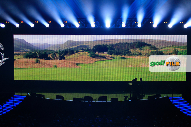 The stage during the Ryder Cup Gala Concert 2014 at SSE Hydro on Wednesday 24th September 2014.<br /> Picture:  Thos Caffrey / www.golffile.ie