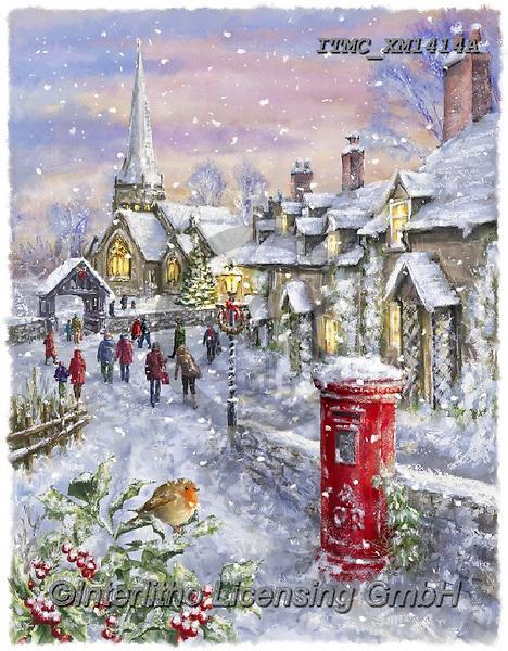 Marcello, CHRISTMAS SYMBOLS, WEIHNACHTEN SYMBOLE, NAVIDAD SÍMBOLOS, paintings+++++,ITMCXM1414A,#xx# #L#,landscape,red robbin