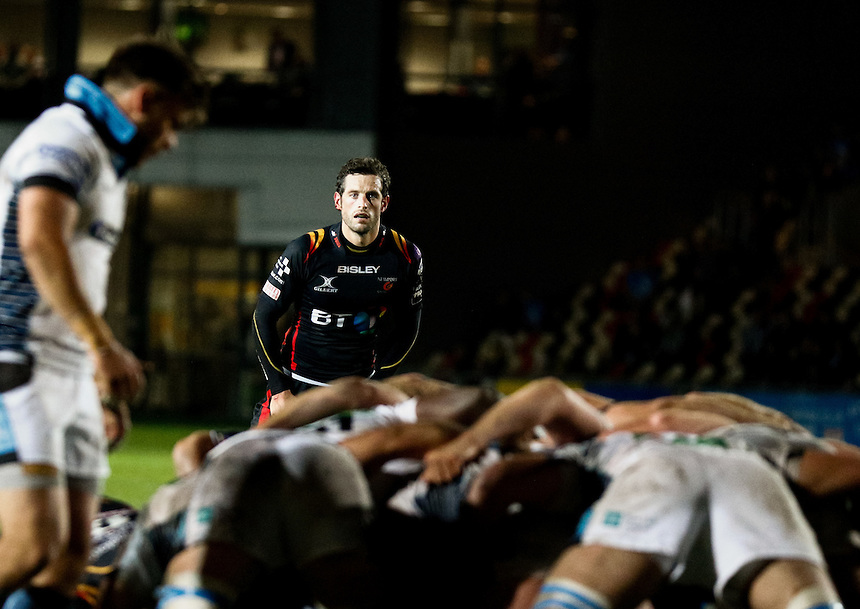 Nick MacLeod of Newport Gwent Dragons<br /> <br /> Photographer Simon King/CameraSport<br /> <br /> Guinness PRO12 Round 5 - Newport Gwent Dragons v Glasgow Warriors - Friday 30th September 2016 - Rodney Parade - Newport<br /> <br /> World Copyright &copy; 2016 CameraSport. All rights reserved. 43 Linden Ave. Countesthorpe. Leicester. England. LE8 5PG - Tel: +44 (0) 116 277 4147 - admin@camerasport.com - www.camerasport.com
