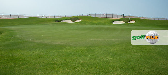 View of the 4th green at Al Zorah Golf Club, Dubai, United Arab Emirates.  26/01/2016. Picture: Golffile | David Lloyd<br /> <br /> All photos usage must carry mandatory copyright credit (&copy; Golffile | David Lloyd)