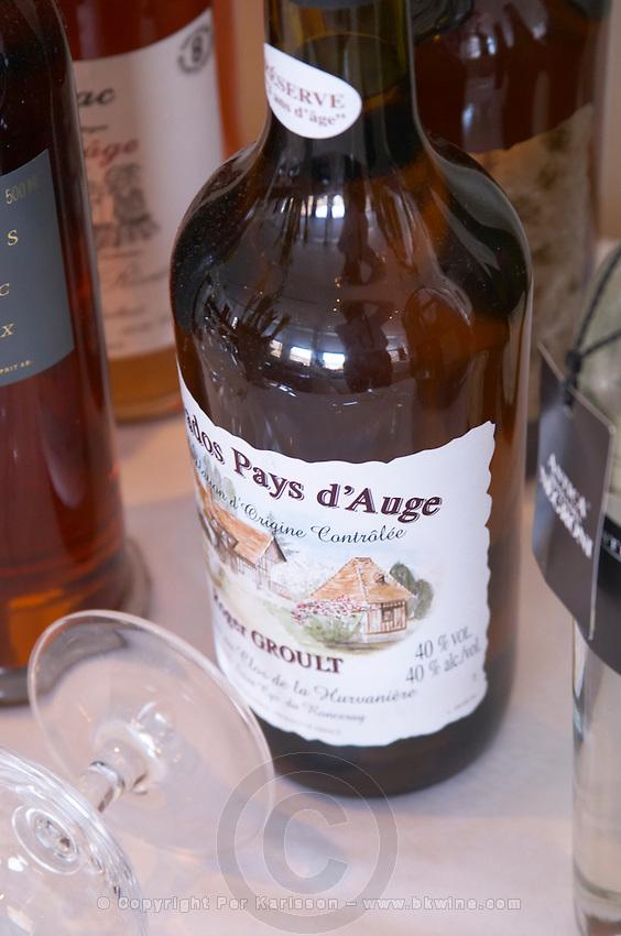Bottle of calvados Roger Groult Reserve and a glass. Ulriksdal Ulriksdals Wärdshus Värdshus Wardshus Vardshus Restaurant, Stockholm, Sweden, Sverige, Europe