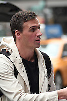 www.acepixs.com<br /> <br /> January 18 20167, New York City<br /> <br /> Olympic swimmer Ryan Lochte signed autographs for fans as he leaves a downtown hotel on January 18 2017 in New York City<br /> <br /> By Line: Curtis Means/ACE Pictures<br /> <br /> <br /> ACE Pictures Inc<br /> Tel: 6467670430<br /> Email: info@acepixs.com<br /> www.acepixs.com