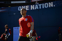 San Diego, CA - Sunday January 29, 2017: Luis Robles prior to an international friendly between the men's national teams of the United States (USA) and Serbia (SRB) at Qualcomm Stadium.