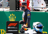 4th July 2020; Red Bull Ring, Spielberg Austria; F1 Grand Prix of Austria, qualifying sessions;  33 Max Verstappen NLD, Aston Martin Red Bull Racing takes 3rd for the race tomorrow