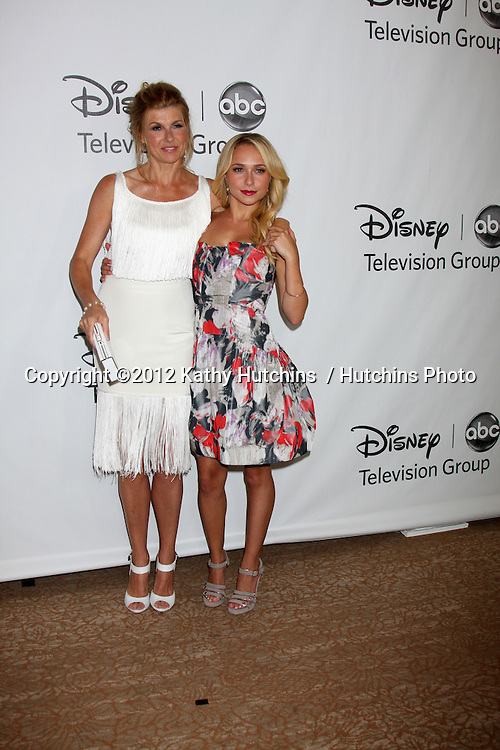 LOS ANGELES - JUL 27:  Connie Britton, Hayden Panettiere arrives at the ABC TCA Party Summer 2012 at Beverly Hilton Hotel on July 27, 2012 in Beverly Hills, CA