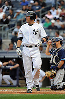 New York Yankees catcher Austin Romine #71 during a game against the Tampa Bay Rays at Yankee Stadium on September 21, 2011 in Bronx, NY.  Yankees defeated Rays 4-2.  Tomasso DeRosa/Four Seam Images