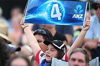 Young cricket fan. New Zealand Blackcaps v England. Tri-Series International Twenty20 cricket. Seddon Park, Hamilton, New Zealand on Sunday 18 February 2018.<br /> <br /> Copyright photo: &copy; Bruce Lim / www.photosport.nz