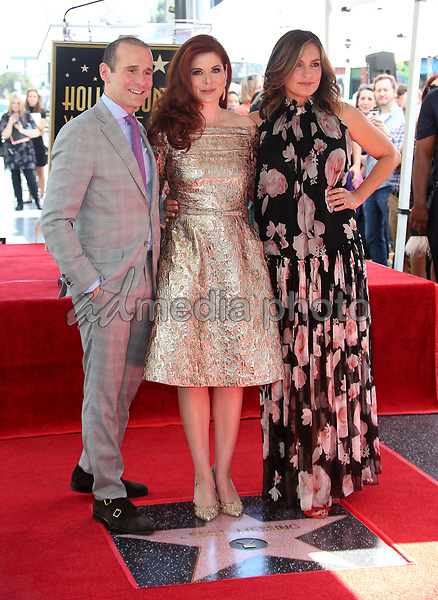 05 October 2017 - Hollywood, California - Max Mutchnick, Debra Messing, Mariska Hargitay. Debra Messing Honored With Star On The Hollywood Walk Of Fame. Photo Credit: F. Sadou/AdMedia