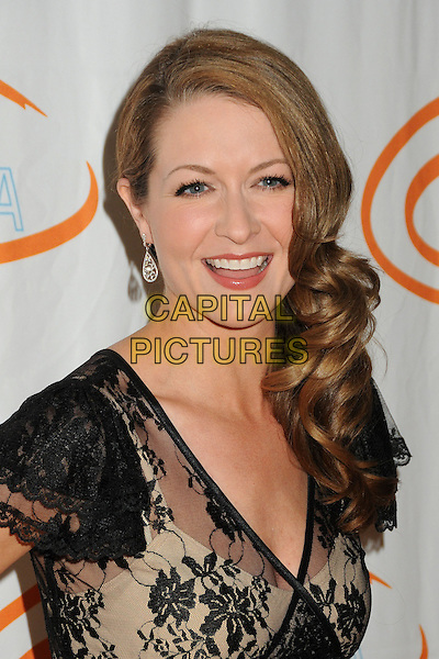 Ali Hillis.12th Annual Lupus LA Orange Ball held at the Beverly Wilshire Hotel, Beverly Hills, California, USA..May 24th, 2012.headshot portrait black beige lace .CAP/ADM/BP.©Byron Purvis/AdMedia/Capital Pictures.