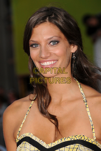"MICHELLE LOMBARDO.""The X-Files: I Want To Believe"" World Premiere at Grauman's Chinese Theatre, Hollywood, California, USA..July 23rd, 2008.headshot portrait yellow halterneck .CAP/ADM/BP.©Byron Purvis/AdMedia/Capital Pictures."