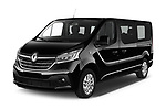 2020 Renault Trafic Space Class 4 Door Passenger Van angular front stock photos of front three quarter view