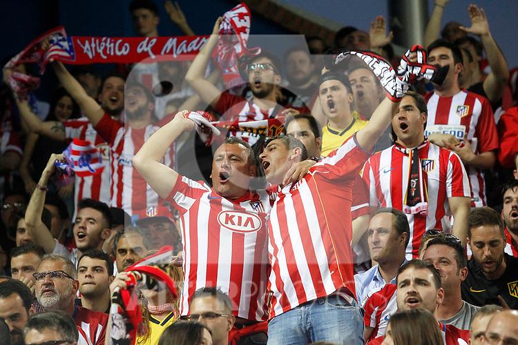 Atletico de Madrid's supporters during Champions League 2016/2017 Quarter-finals 1st leg match. April 12,2017. (ALTERPHOTOS/Acero)