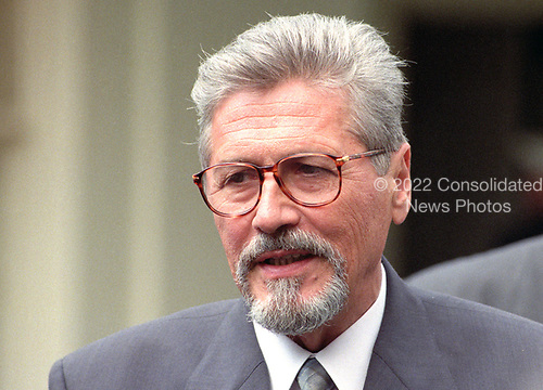 President Emil Constantinescu of Romania meets reporters after his meeting with United States President Bill Clinton at the White House in Washington, DC on Thursday, July 16, 1998.<br /> Credit: Ron Sachs / CNP