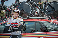 André Greipel (DEU/Lotto-Soudal) ahead of the TTT recon<br /> <br /> 12th Eneco Tour 2016 (UCI World Tour)<br /> stage 5 (TTT) Sittard-Sittard (20.9km) / The Netherlands
