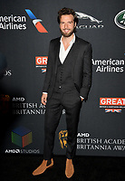 Guy Burnet at the 2017 AMD British Academy Britannia Awards at the Beverly Hilton Hotel, USA 27 Oct. 2017<br /> Picture: Paul Smith/Featureflash/SilverHub 0208 004 5359 sales@silverhubmedia.com