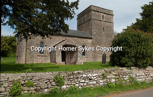 Church of St Mary in Christon, North Somerset, England dates from the 12th century,