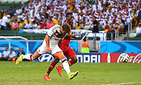Mario Goetze of Germany scores a goal to make the score 1-0