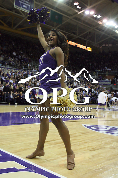 Mar 05, 2011:  Washington cheerleader Taylor Romar entertained the crowed during a timeout in action against USC.  USC defeated Washington 62-60 at Alaska Airlines Arena Seattle, Washington.