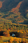 Methodist Church, Cades Cove, Autumn, Great Smoky Mtns NP, TN