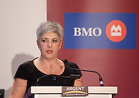 Montreal (Qc) CANADA - May 30  2011 -DENISE VERREAULT, PRESIDENT & CEO OF GROUPE MARITIME VERREAULT INC., AT THE CANADIAN CLUB OF MONTREAL'S PODIUM