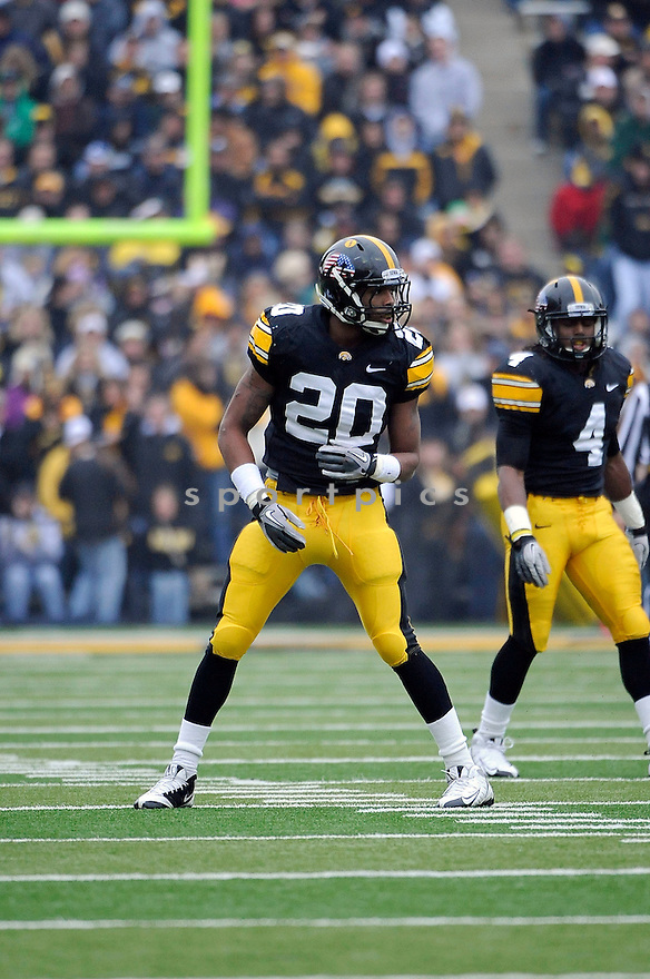 CHRISTIAN KIRKSEY, of the Iowa Hawkeyes, in action during Iowa's game against the Michigan Wolverines on November 5, 2011 at Kinnick Stadium in Iowa City, IA. Iowa beat Michigan 24-16.