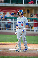 Chris Godinez (16) of the Ogden Raptors at bat against the Orem Owlz in Pioneer League action at Home of the Owlz on June 20, 2015 in Provo, Utah. The Raptors defeated the Owlz 9-6. (Stephen Smith/Four Seam Images)