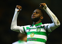 5th February 2020; Fir Park, Motherwell, North Lanarkshire, Scotland; Scottish Premiership Football, Motherwell versus Celtic; Odsonne Edouard of Celtic celebrates after he makes it 4-0 to Celtic from a free kick in the 80th minute
