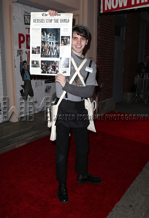 Atmosphere.attending the Broadway Opening Night Performance of.'Newsies - The Musical' at the Nederlander Theatre in NewYork City on 3/29/2012 © Walter McBride / WM Photography