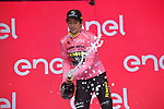Race leader Primoz Roglic (SLO) Team Jumbo-Visma retains the Maglia Rosa at the end of Stage 5 of the 2019 Giro d'Italia, running 140km from Frascati to Terracina, Italy. 15th May 2019<br /> Picture: Gian Mattia D'Alberto/LaPresse | Cyclefile<br /> <br /> All photos usage must carry mandatory copyright credit (© Cyclefile | Gian Mattia D'Alberto/LaPresse)