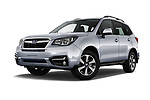 Stock pictures of low aggressive front three quarter view of 2017 Subaru Forester Comfort 5 Door Wagon Low Aggressive