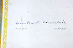 Winston Churchill - Famous Guest's Signatures  On Floor In Kind David Hotel