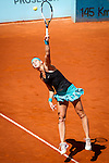 The tennis player Petra Kvitova during the match against Lucie Safarova in the Madrid Open Tennis Tournament. In Madrid, Spain, on 05/08/2014.