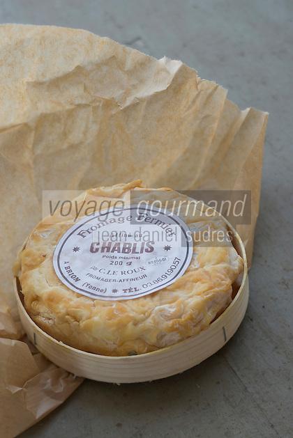 Europe/France/Bourgogne/89/Yonne/Brion: Fromage fermier affiné au Chablis par Mr le Roux fromager affineur