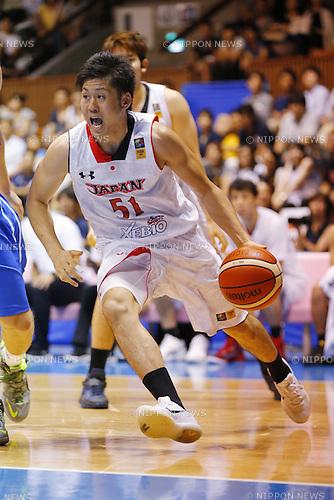 Shigehiro Taguchi (JPN), AUGUST 15, 2015 - Basketball : International friendly match between Japan 65-54 Czech Republic at 2nd Yoyogi Gymnasium in Tokyo, Japan. (Photo by Yusuke Nakanishi/AFLO SPORT)