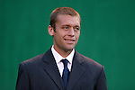 16 October 2004: Wizards defender Jimmy Conrad before the game. The Kansas City Wizards defeated the Los Angeles Galaxy 1-0 at Arrowhead Stadium in Kansas City, MO in a regular season Major League Soccer game..