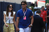 May 28th 2017, Monaco; F1 Grand Prix of Monaco Race Day;  The brother of Sergio Perez arrives for the race