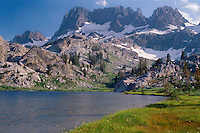 The Minarets from Ediza Lake<br /> Ansel Adams Wilderness<br /> Inyo National Forest<br /> Sierra Nevada,  California