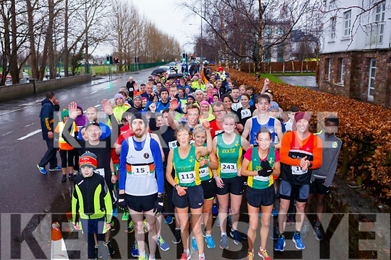 Runners at the start of the Optimal Fitness 5k & 10k run at The Rose Hotel, Tralee on New Year's Eve morning.