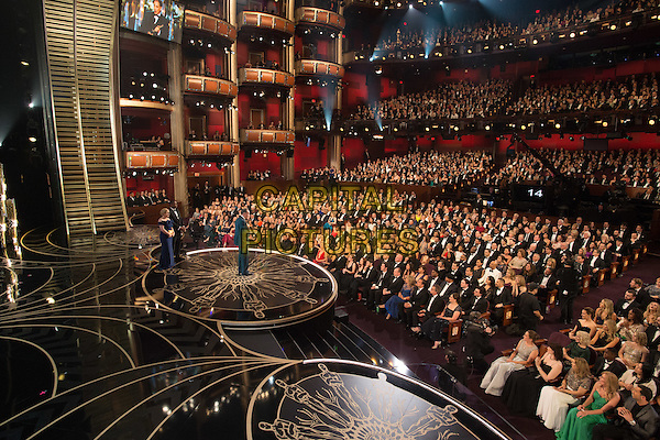 Mark Rylance accepts the Oscar&reg; for Performance by an actor in a supporting role, for his role in &ldquo;Bridge of Spies&rdquo; from Patricia Arquette during the live ABC Telecast of The 88th Oscars&reg; at the Dolby&reg; Theatre in Hollywood, CA on Sunday, February 28, 2016.<br /> *Editorial Use Only*<br /> CAP/PLF<br /> Supplied by Capital Pictures