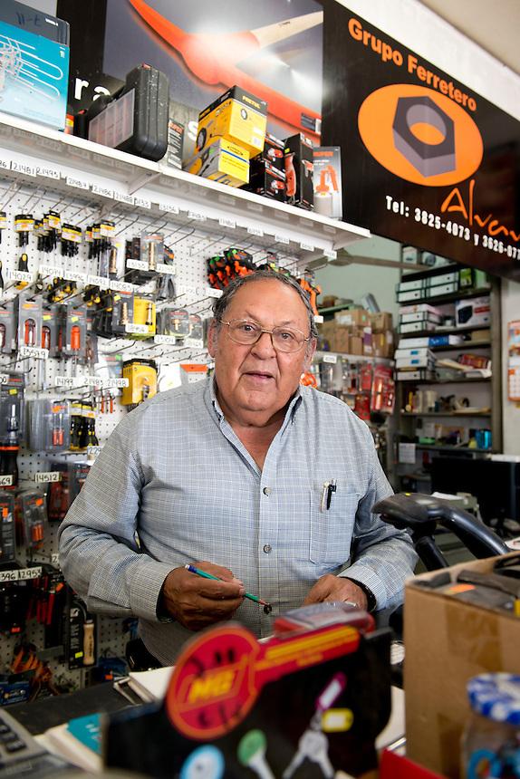 Raul Velazquez Castrejon. Hardware store owners in Guadalajara, Jalisco,  Mexico