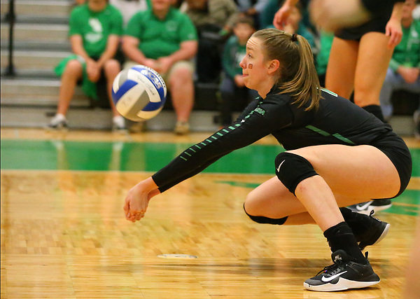 DENTON, NOVEMBER 9: University of North Texas Mean Green Volleyball at Volleyball v Western Kentucky University Hilltoppers Athletic Complex in Denton, Texas on November 9, 2017. (Photo Rick Yeatts)