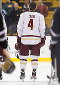 Tommy Cross (BC - 4) - The Boston College Eagles defeated the Providence College Friars 4-2 in their Hockey East semi-final on Friday, March 16, 2012, at TD Garden in Boston, Massachusetts.