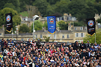 A general view of Bath Rugby flags. Gallagher Premiership match, between Bath Rugby and Gloucester Rugby on September 8, 2018 at the Recreation Ground in Bath, England. Photo by: Patrick Khachfe / Onside Images