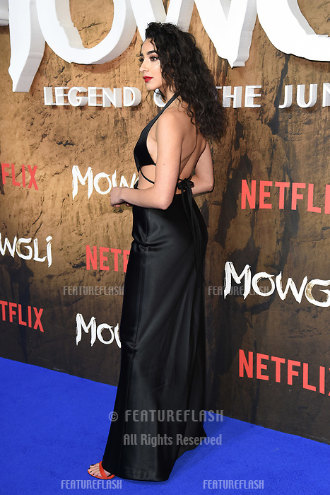 LONDON, UK. December 04, 2018: Kara Marni at the&quot;Mowgli: Legend of the Jungle&quot; premiere at the Curzon Mayfair, London.<br /> Picture: Steve Vas/Featureflash