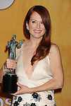 LOS ANGELES, CA - JANUARY 27: Julianne Moore poses at the 19th Annual Screen Actors Guild Awards at The Shrine Auditorium on January 27, 2013 in Los Angeles, California.