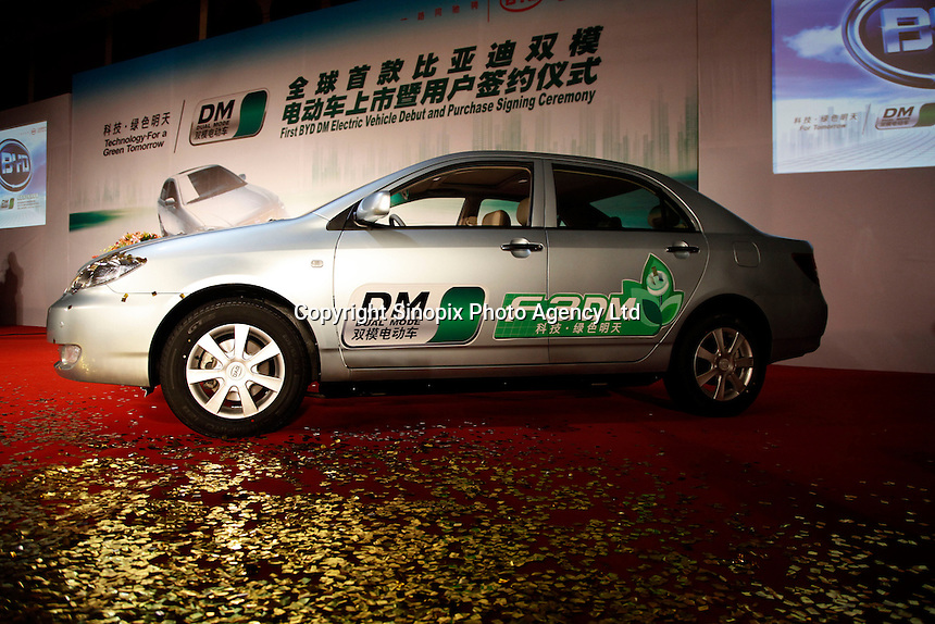 A view of BYD's new F3 Dual Mode (DM) vehicle in Shenzhen, China..15 Dec 2008.